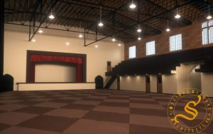 Hinds County Armory – Existing Facility Study & Report - Rendering - Renovation Option Empty