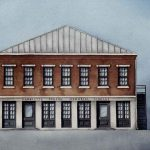 Harriette Person Memorial Library - Watercolor