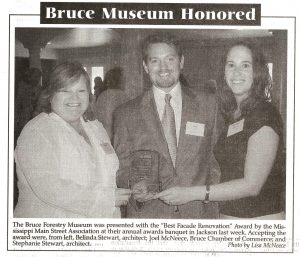 Bruce Mississippi Forestry Museum Honored