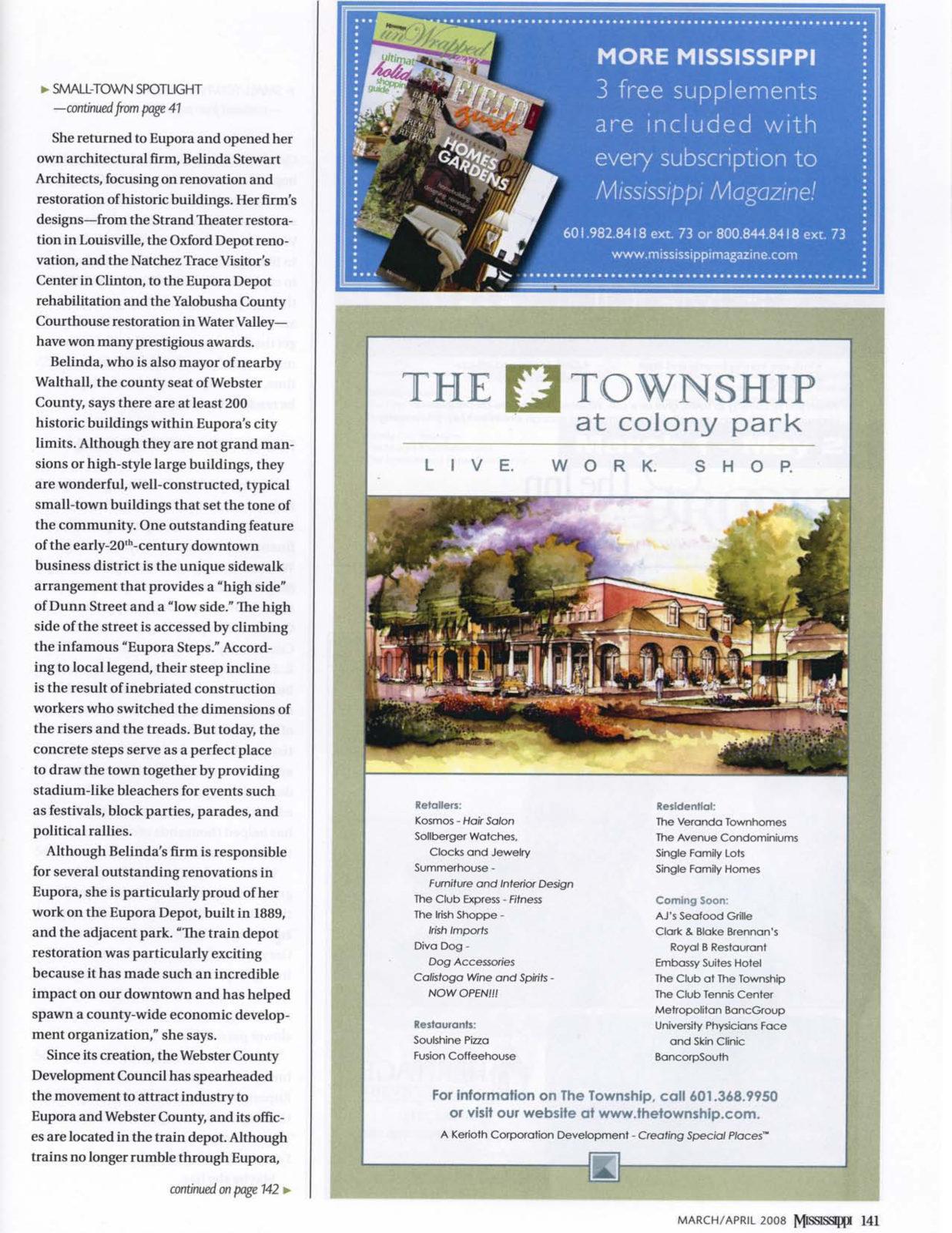 Mississippi Magazine – A Sense of Eupora