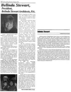 Stewart named to Top 50 Leading Business Women of 2006 by Mississippi Business Journal