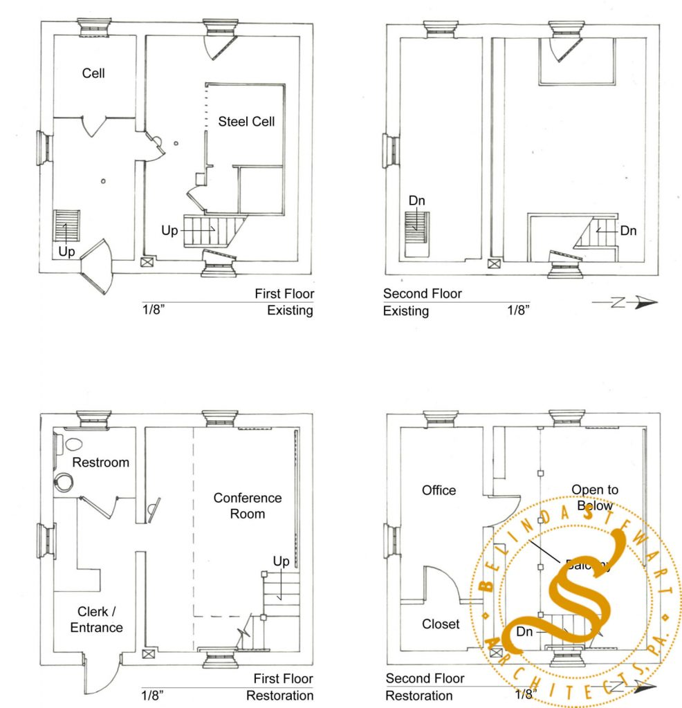Jail (Village Hall) Rehabilitation – Plan Drawings