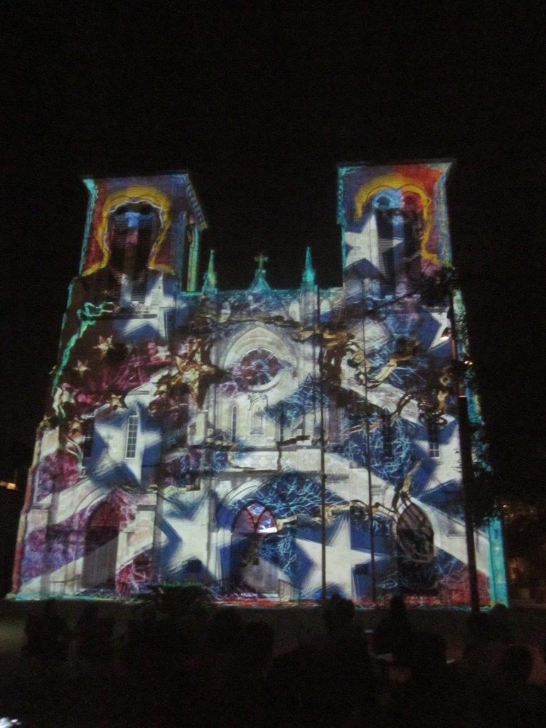Light Show on Cathedral Facade