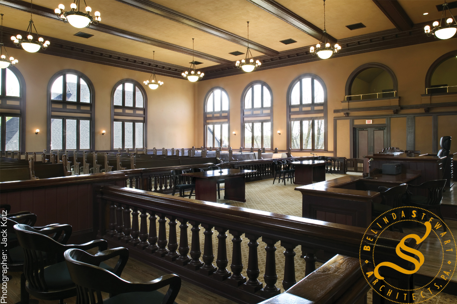 Pontotoc County Courthouse Restoration - Courtroom