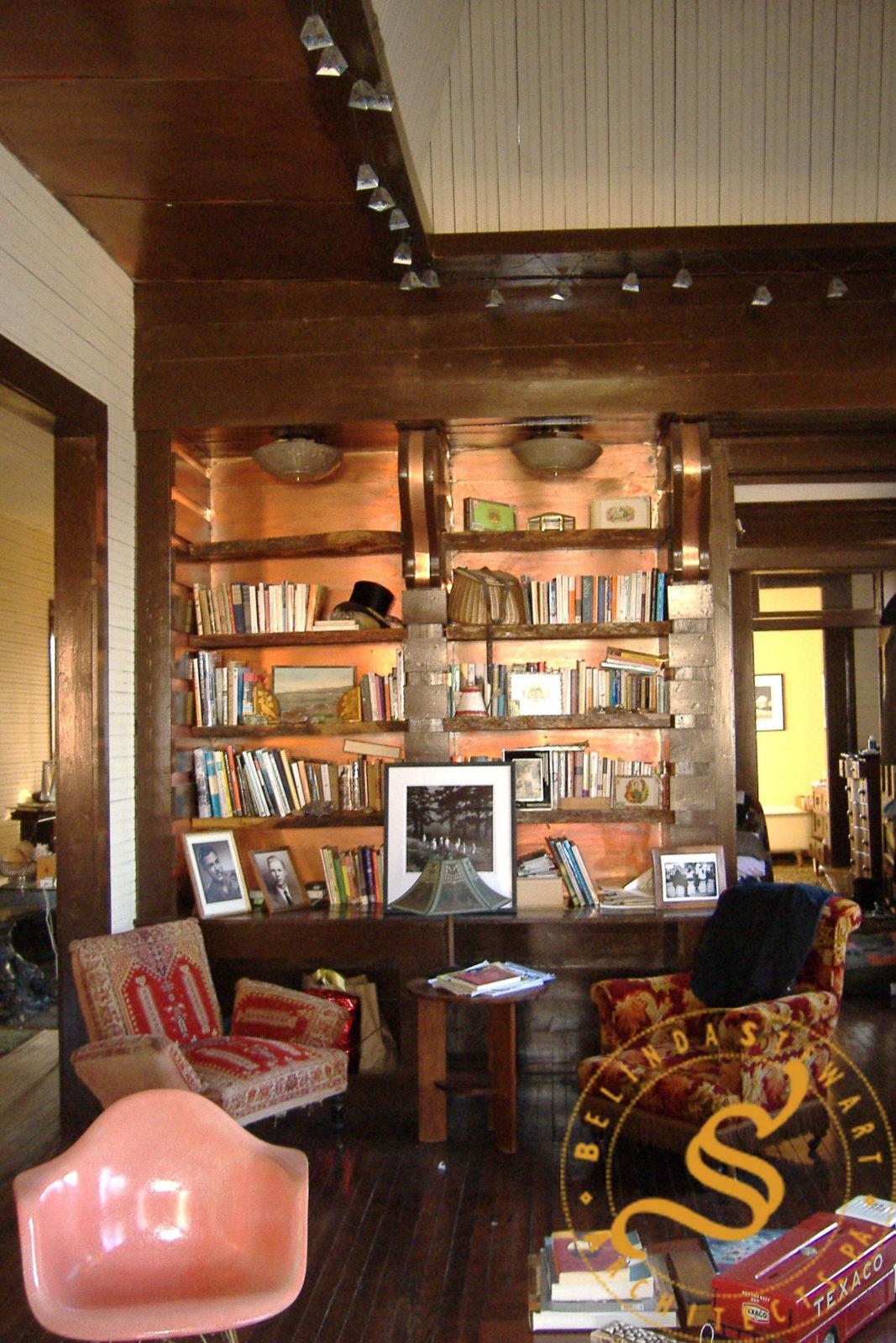 Miss Del's Apartment Renovation - Library Shelves